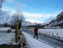 Winter walking in Keswick
